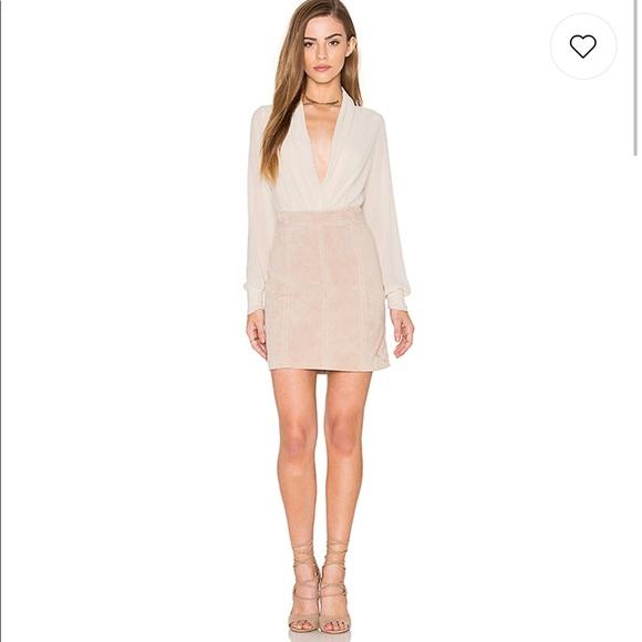 Bardot Dresses & Skirts - Bardot 100% Suede Mini Skirt